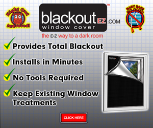 Blackout EZ Window Cover Banner 300 x 250