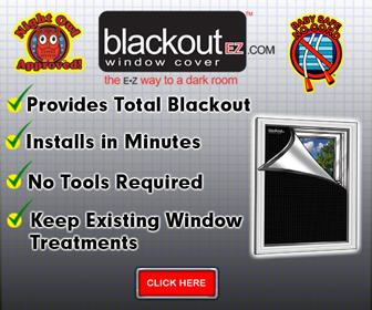 Blackout EZ Window Cover Banner 336 x 280
