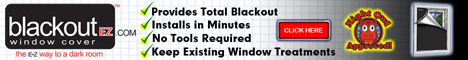 Blackout EZ Window Cover Banner 468 x 60